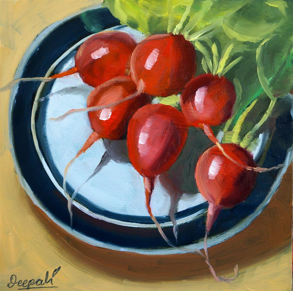 """Radishes"" original fine art by Dipali Rabadiya"