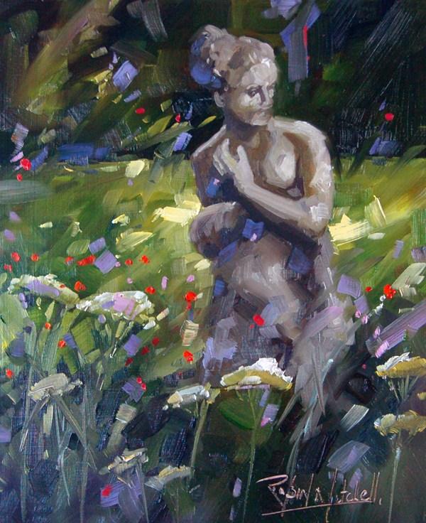 """No 482 Garden Grace"" original fine art by Robin J Mitchell"