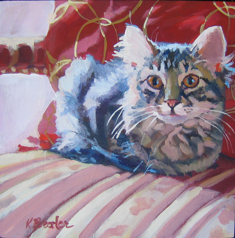 """The Kitten"" original fine art by Kaethe Bealer"