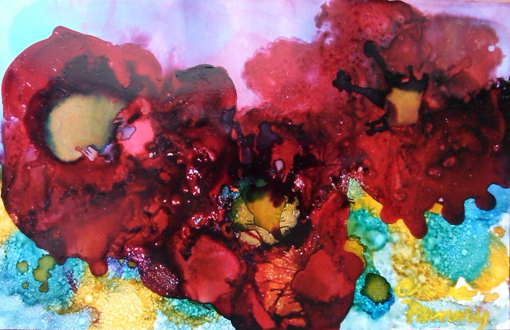 """Red Poppies"" original fine art by Anna Penny"