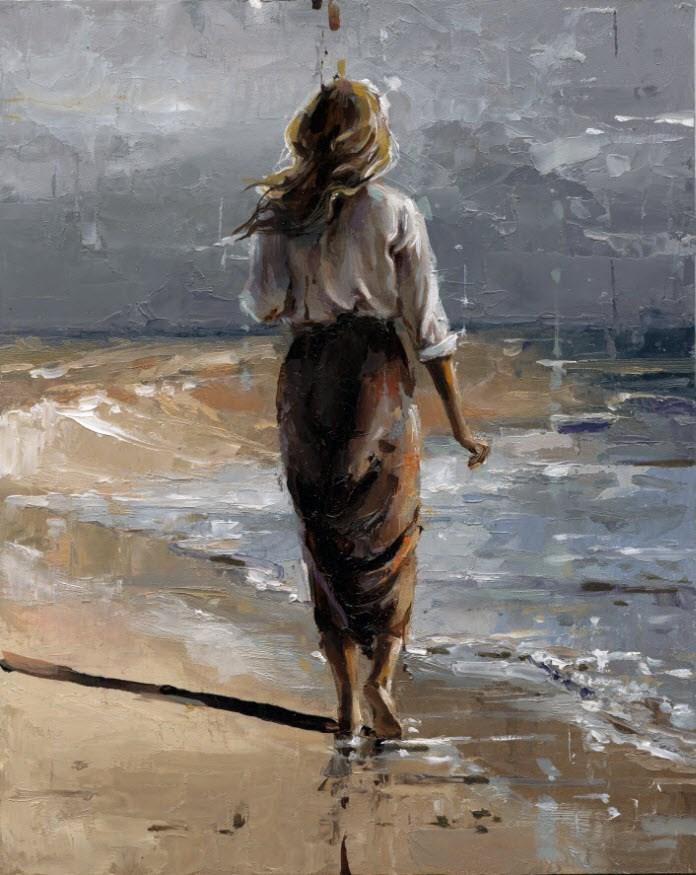 """Ocean -II"" original fine art by Victor Bauer"