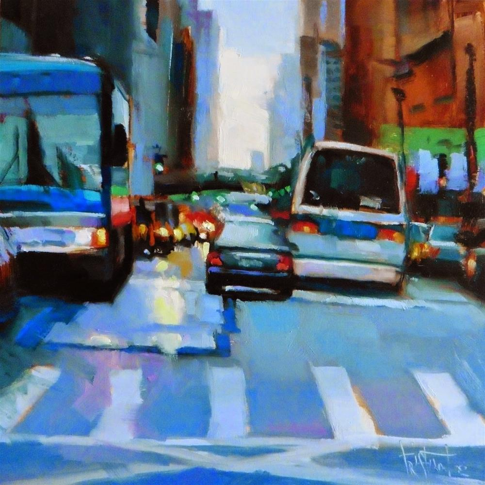 """Busy traffic"" original fine art by Víctor Tristante"