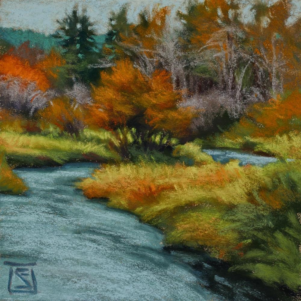 """October Rain"" original fine art by Sheila Evans"