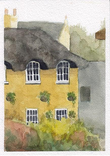"""Thatched Cottage I"" original fine art by J M Needham"