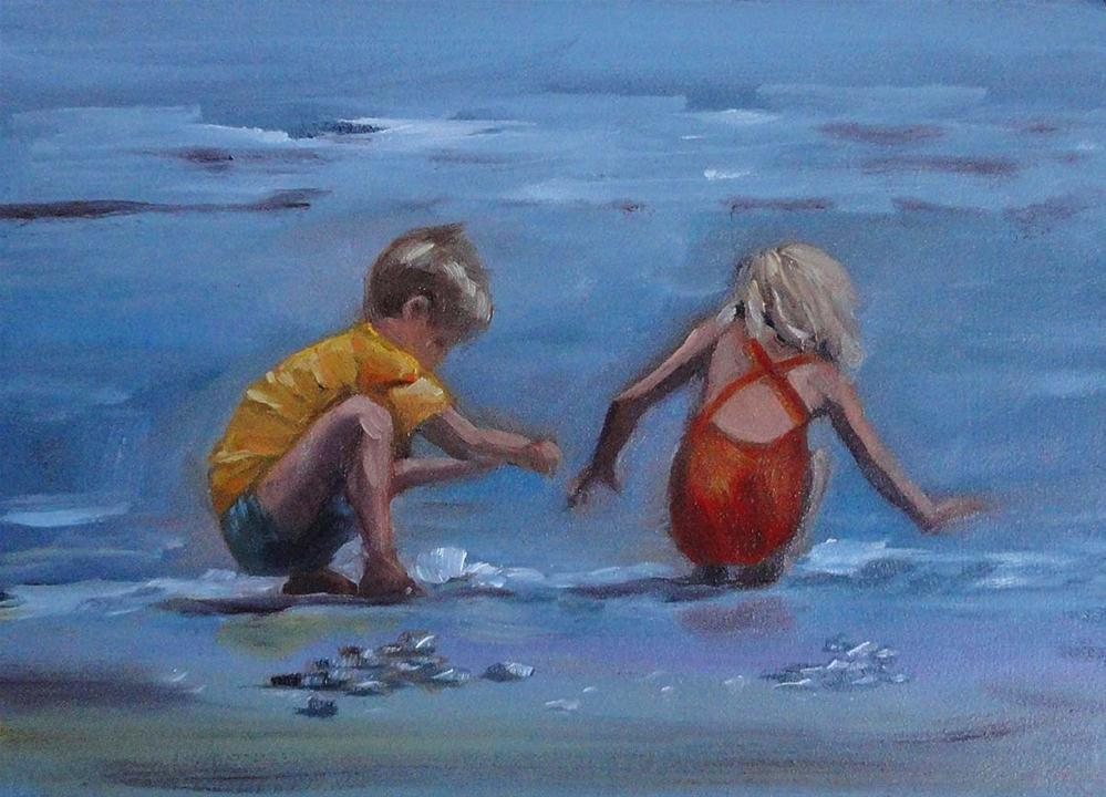 """Treasure Hunting"" original fine art by Cietha Wilson"