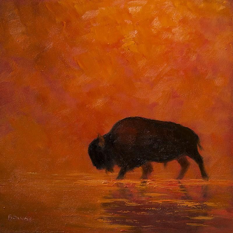 """Crossing the Madison"" original fine art by Bonnie Bowne"