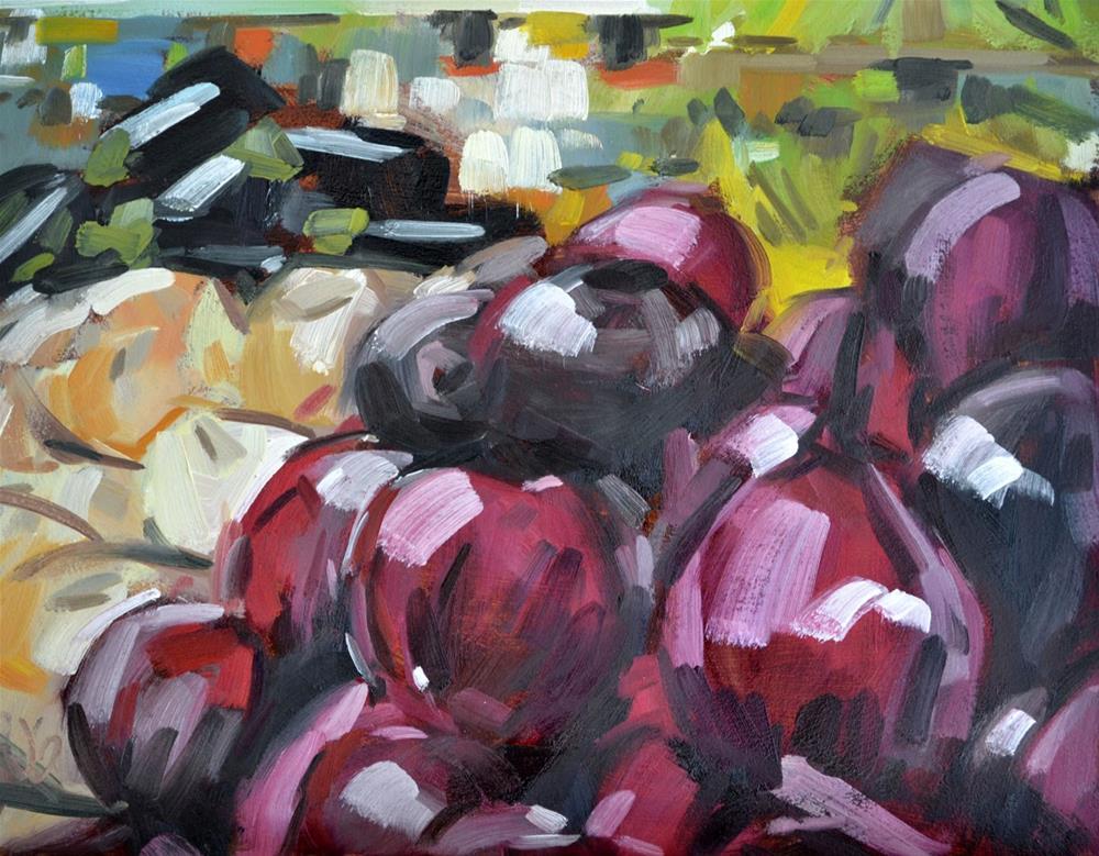 """Produce Piles"" original fine art by Jessica Green"