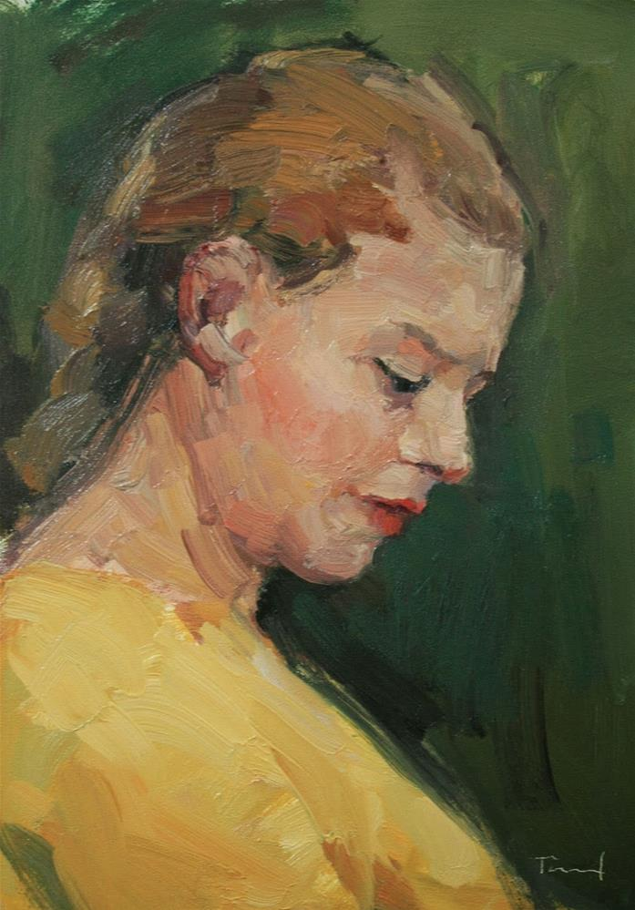 """Girl in Yellow"" original fine art by Kathryn Townsend"