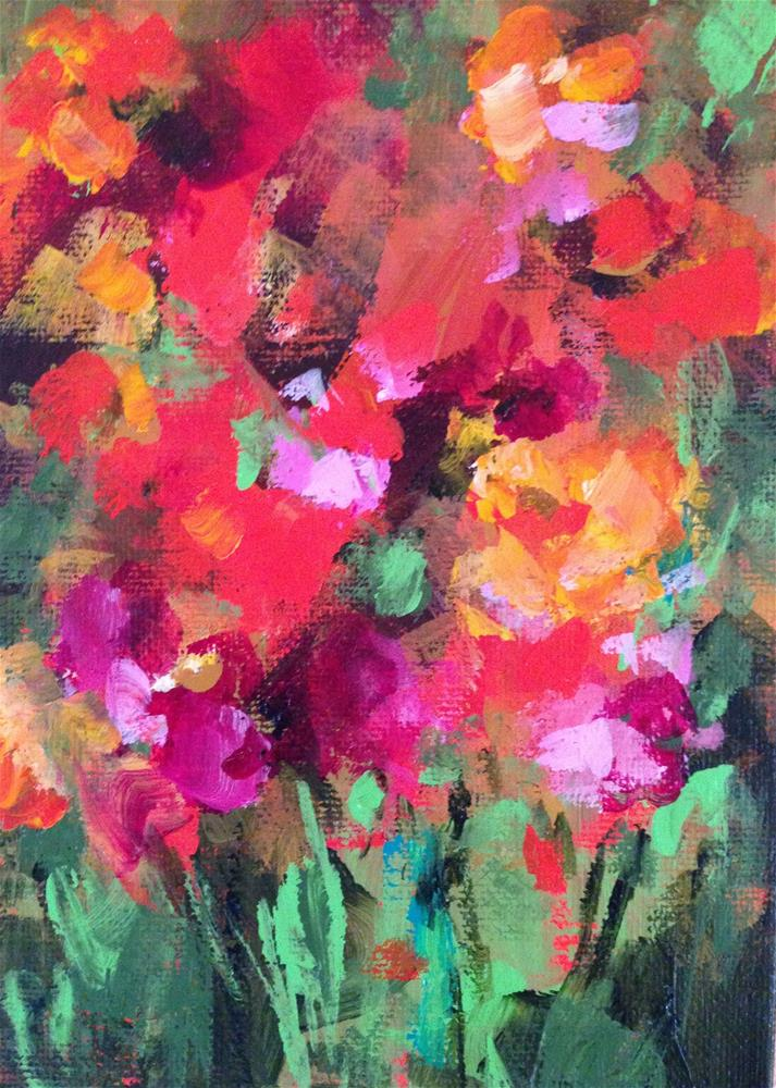 """New Floral"" original fine art by Molly Wright"