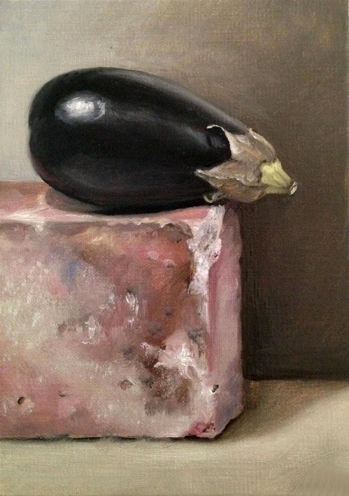 """Petite Aubergine"" original fine art by Naomi Hughes"