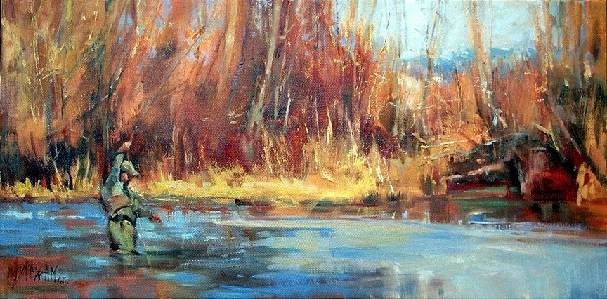 """Pointing The Way"" original fine art by Mary Maxam"