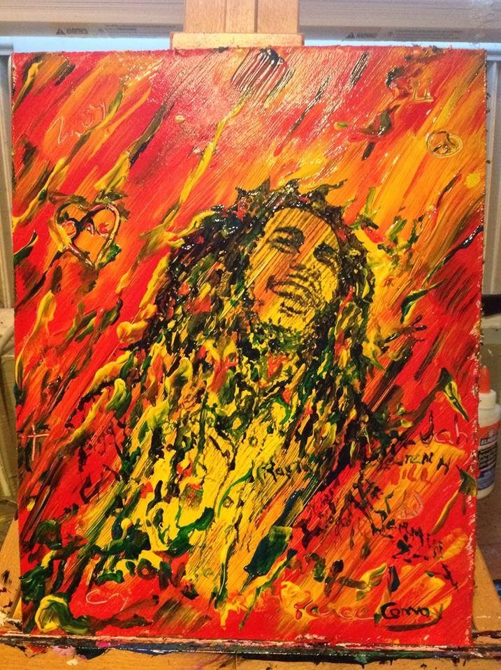 """Jammin "" original fine art by mark convoy"