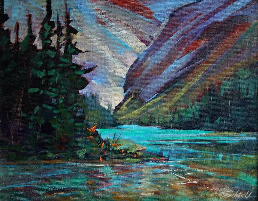 """""""Mountain Watershed"""" original fine art by Brian Buckrell"""
