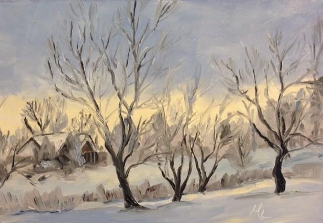 """""""Winter Light"""" original fine art by Marjie Laizure"""