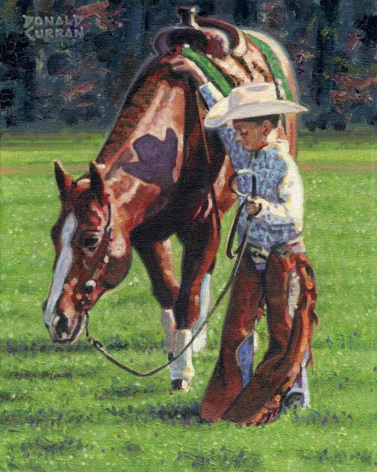 """Little Cowboy"" original fine art by Donald Curran"