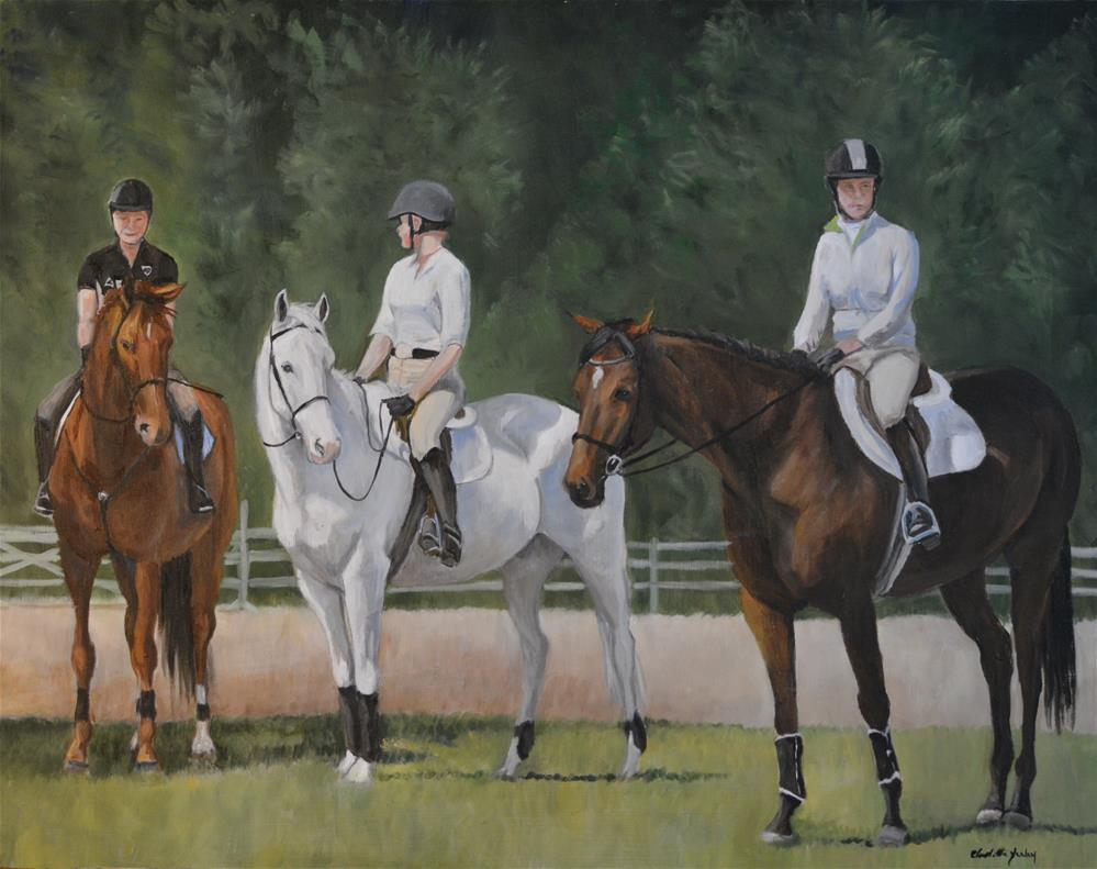 """Riders Ready"" original fine art by Charlotte Yealey"