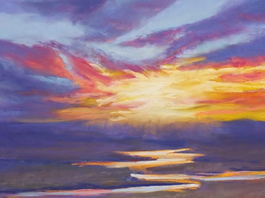 """""""Golden Run 1"""" original fine art by Linee Baird"""