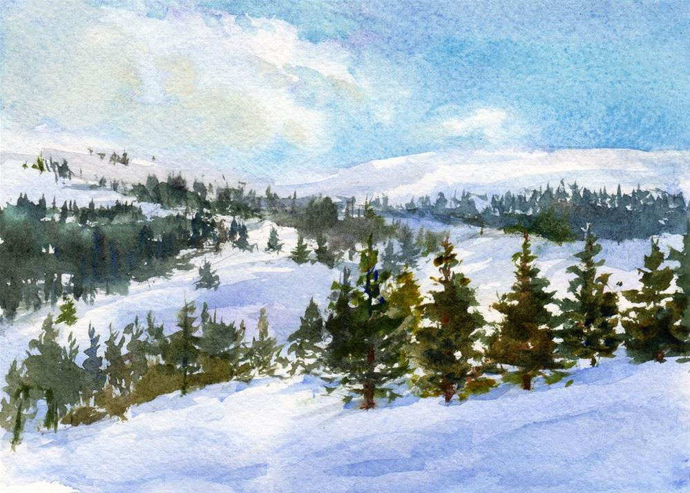 """""""Above the Clouds"""" original fine art by Linda Henry"""