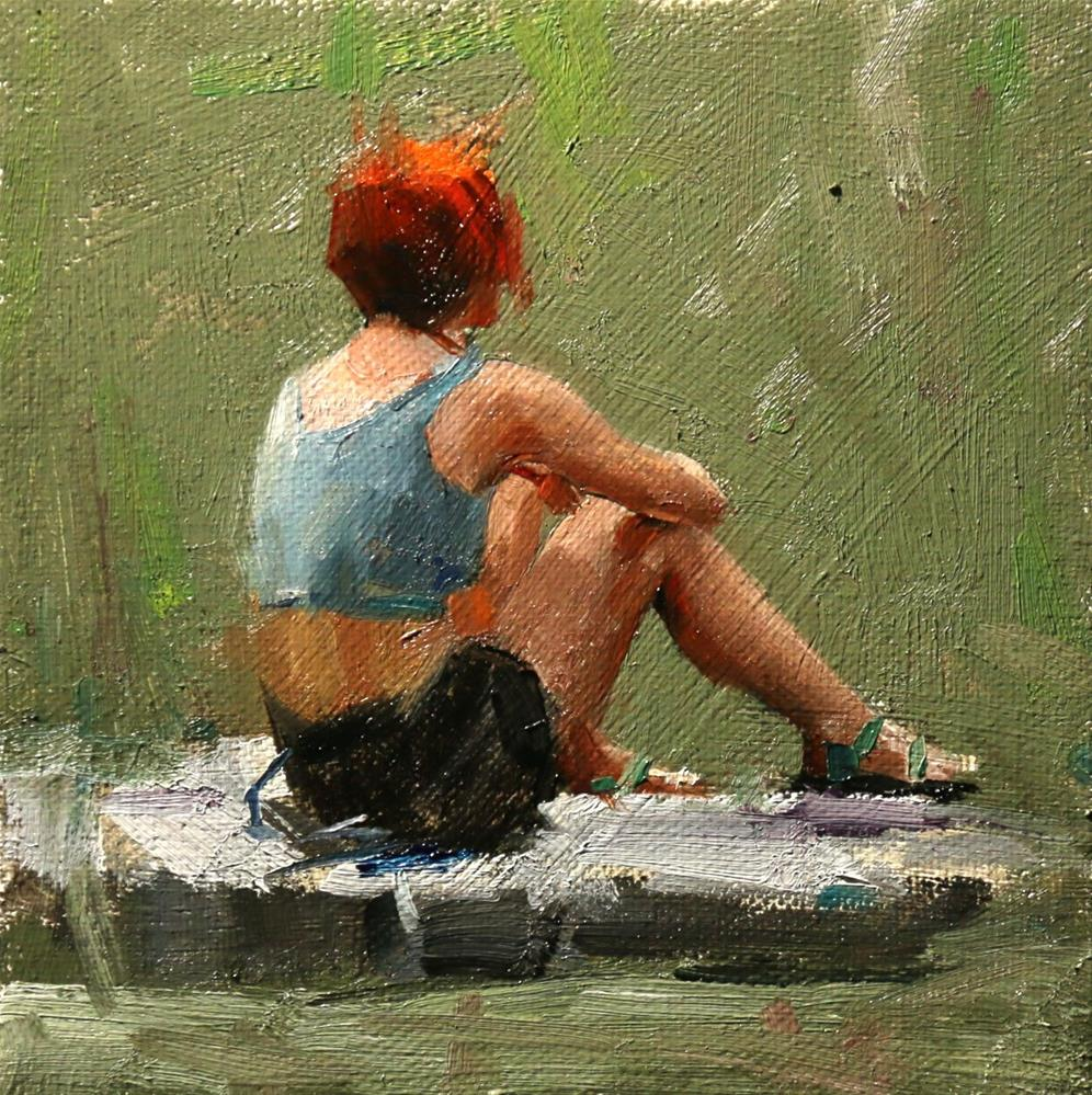 """Red Hair"" original fine art by Qiang Huang"