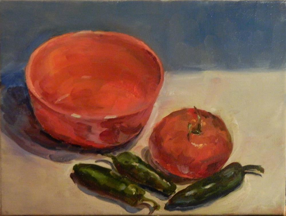 """Salsa Fixins"" original fine art by Debra Shore"