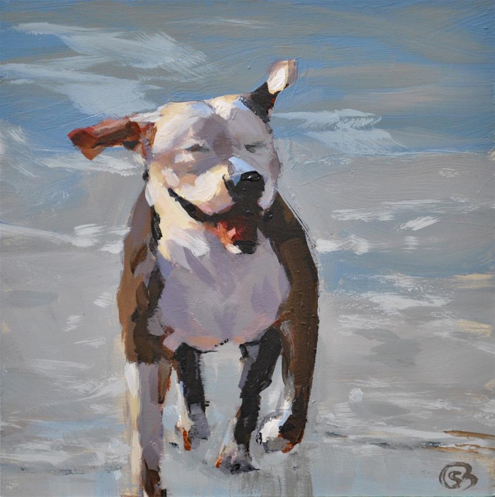 """Happy Dog"" original fine art by Shari Buelt"