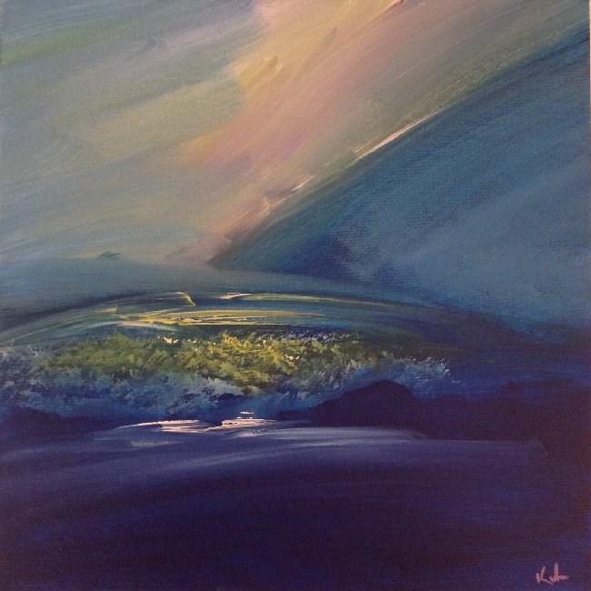 """Silence at the Edge"" original fine art by David Kuhn"
