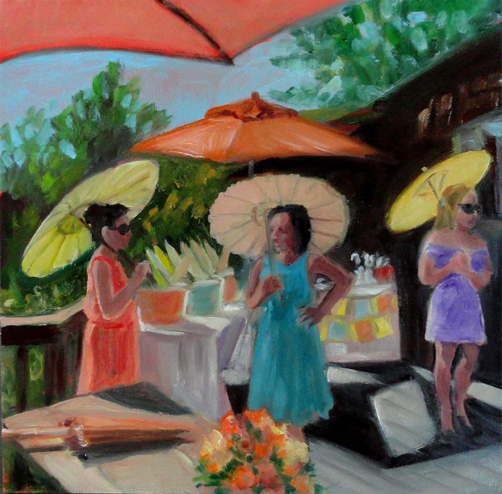 """Parasols"" original fine art by Cietha Wilson"