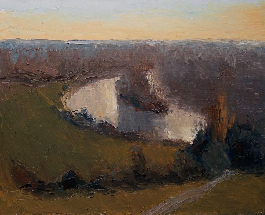 """Richmond Hill View"" original fine art by Jethro Knight"
