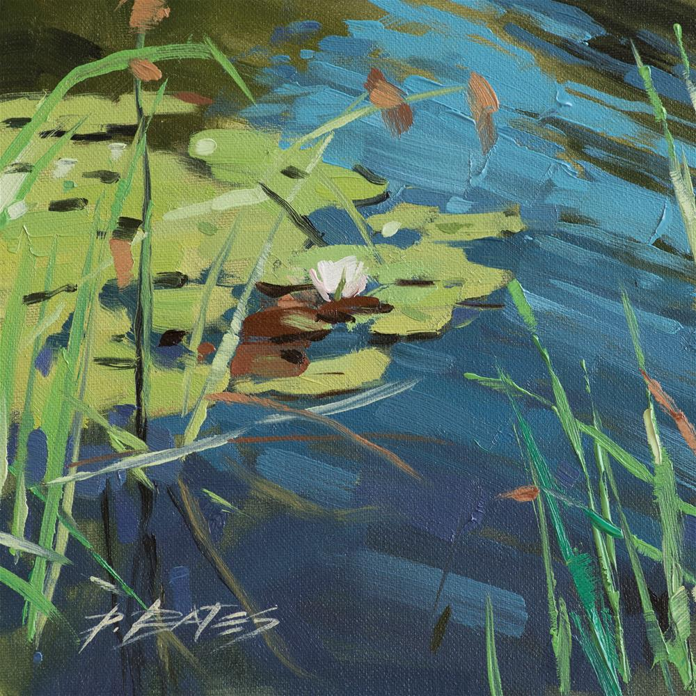 """Lily Pads I"" original fine art by David Bates"