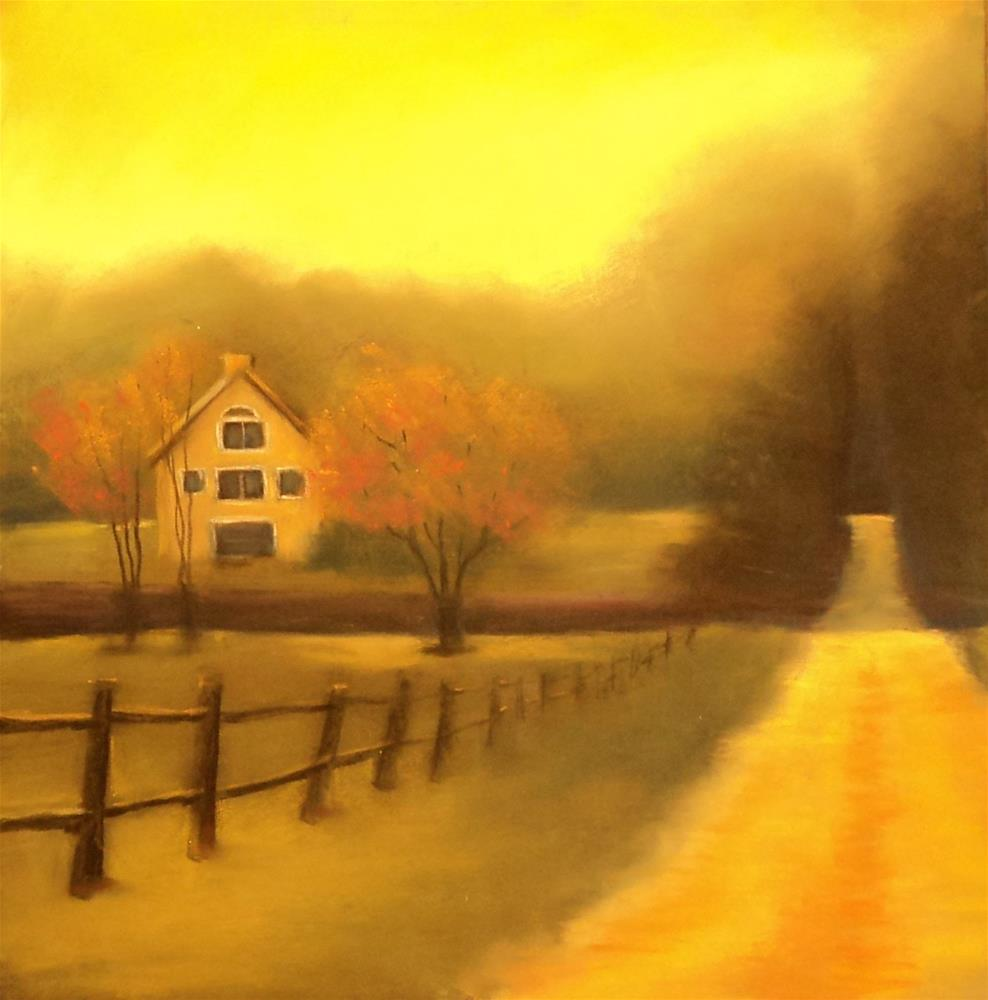 """Buffum Road in Fall"" original fine art by Judy Albright"