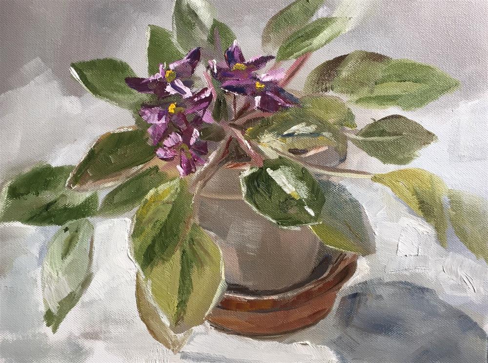 """Violet Study"" original fine art by Gary Bruton"
