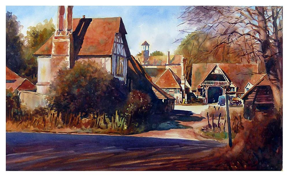 """Old farm in Kent."" original fine art by Graham Berry"