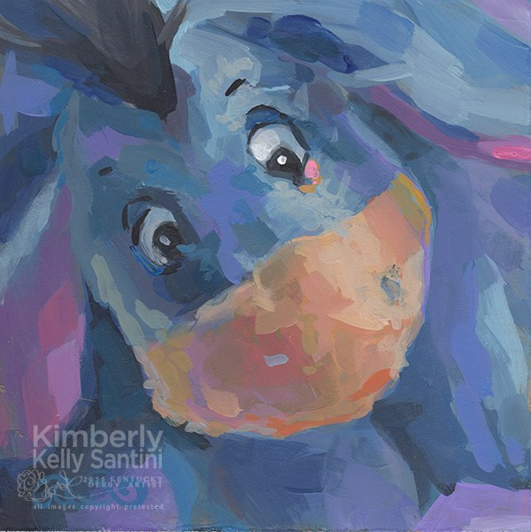 """Eeyore"" original fine art by Kimberly Santini"