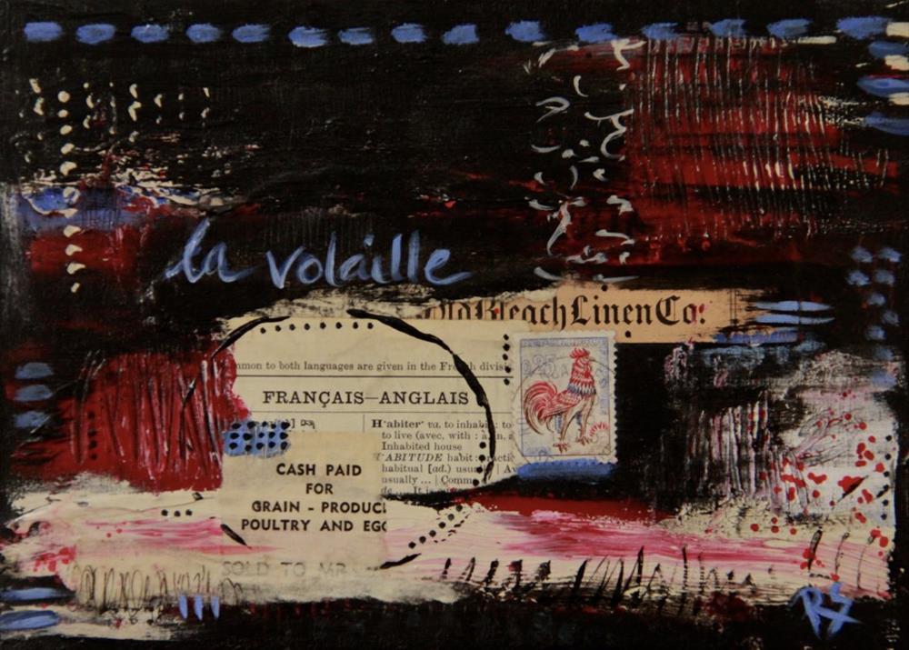 """La Volaille"" original fine art by Roberta Schmidt"