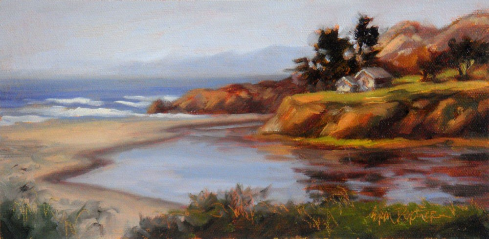 """Ten Mile River Meets the Sea"" original fine art by Erin Dertner"