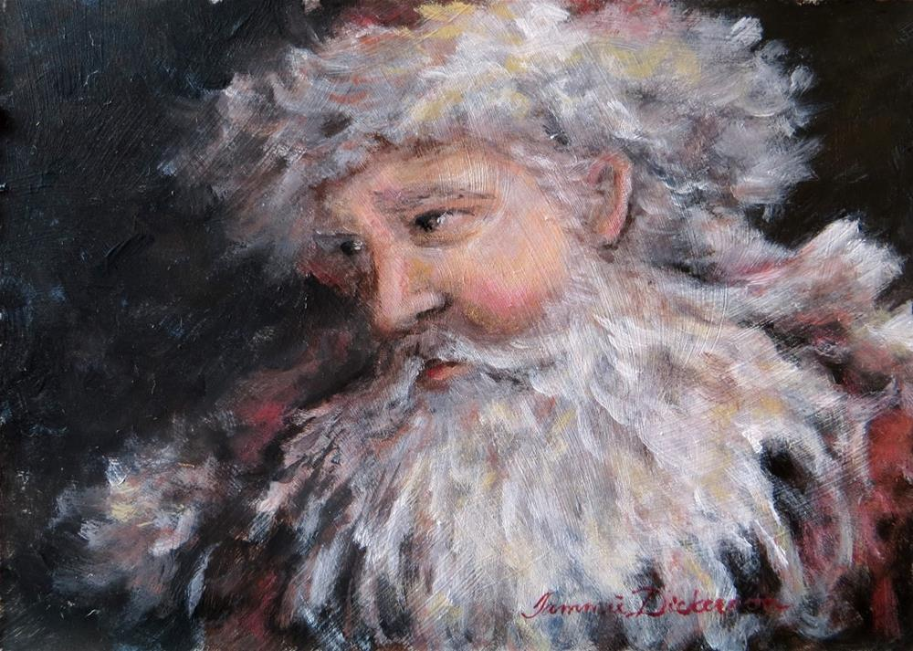"""Father Christmas 2015"" original fine art by Tammie Dickerson"