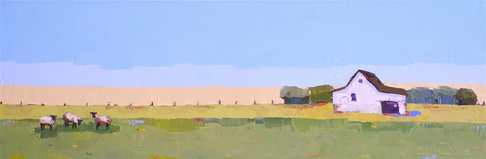 """The Long Pasture"" original fine art by Donna Walker"