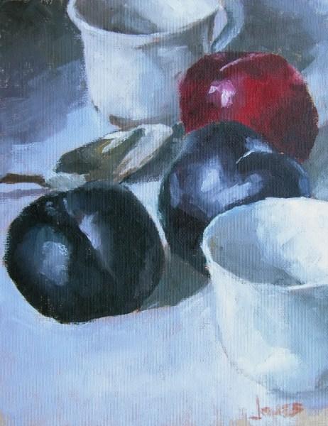 """Cups and Plums"" original fine art by Richard Jones"