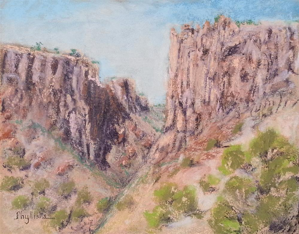 """Diablo Canyon, Santa Fe, New Mexico"" original fine art by Phyllisha Hamrick"