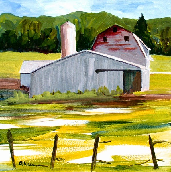 """Barn #10"" original fine art by Anna Vreman"