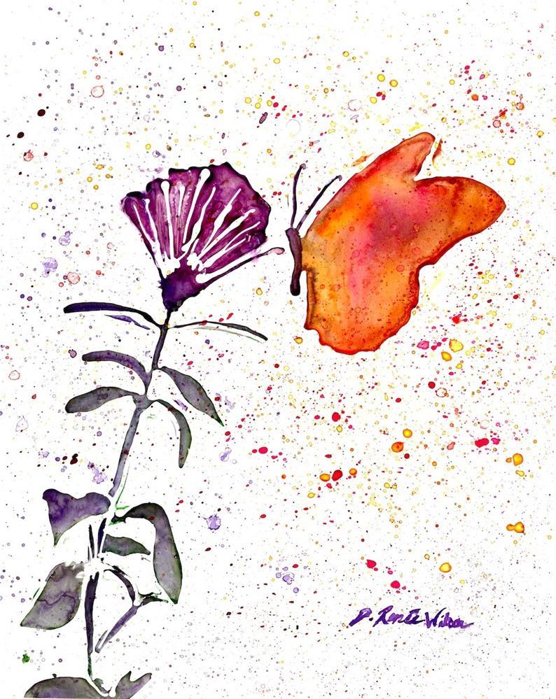 """""""Butterfly Fuchsia"""" original fine art by D. Renee Wilson"""