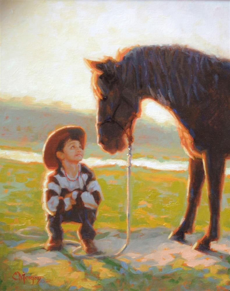 """""""You've Got A Friend"""" original fine art by Cecile W. Morgan"""