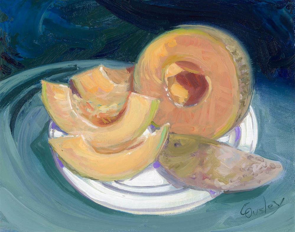 """Sliced Cantaloupe"" original fine art by Chris Ousley"