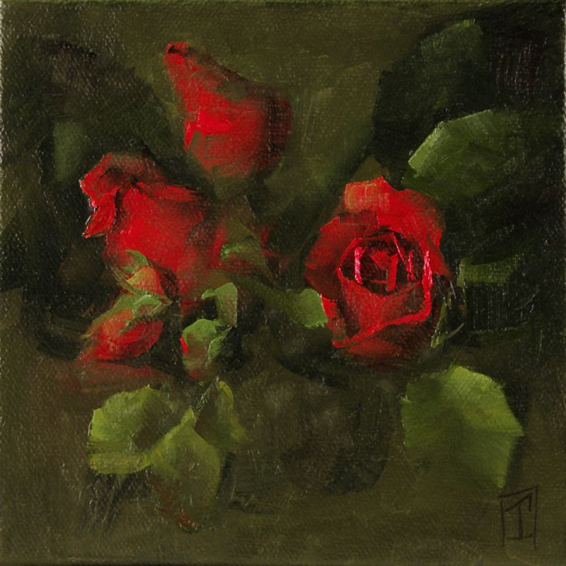 """Red Rose Study 1"" original fine art by Lori Twiggs"