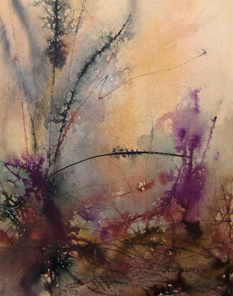 """Tangled Undergrowth II"" original fine art by Jean Lurssen"