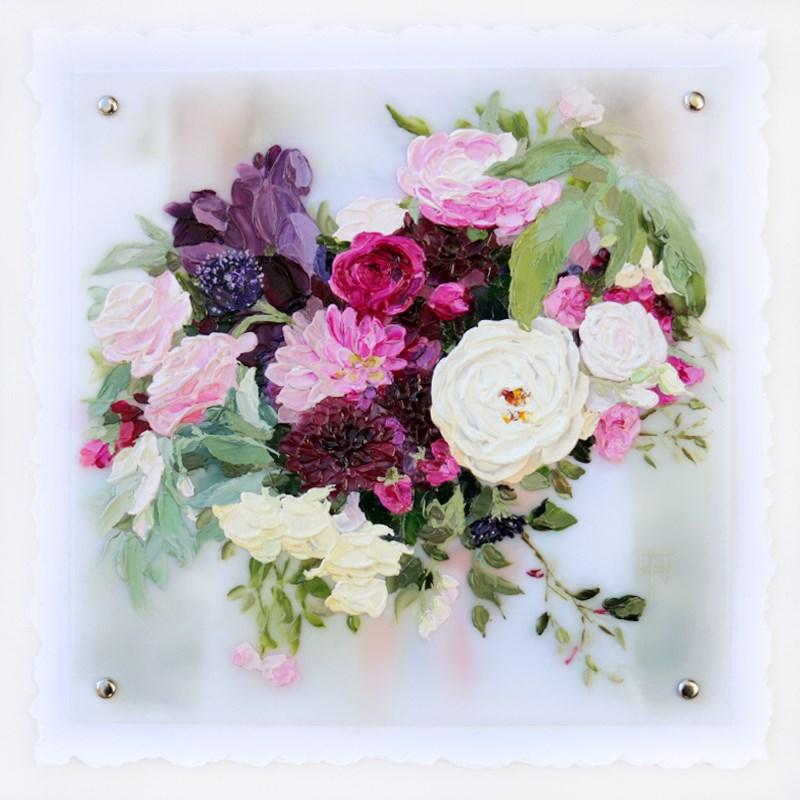 """Anna's Bouquet - Custom Wedding Bouquet Painting"" original fine art by Terri Heinrichs"