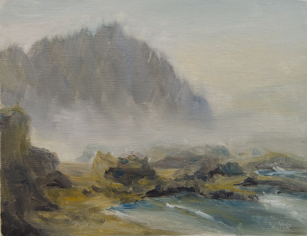 """Mists of Yachats"" original fine art by Rachel Steely"