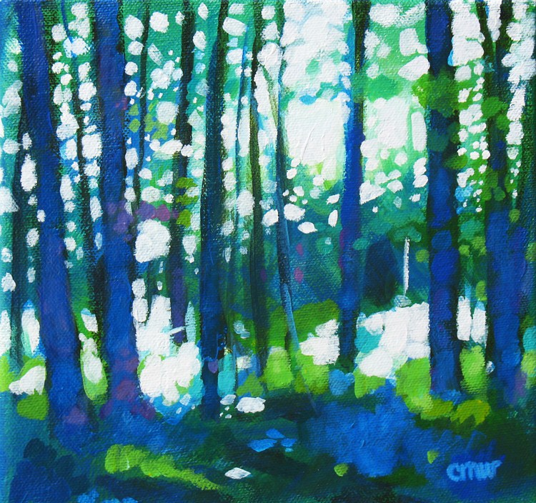 """Forest of Blue"" original fine art by Cindy Wentzell"