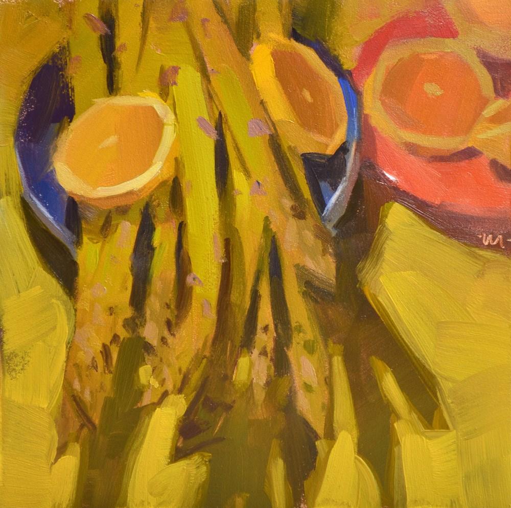 """Making Eyes"" original fine art by Carol Marine"