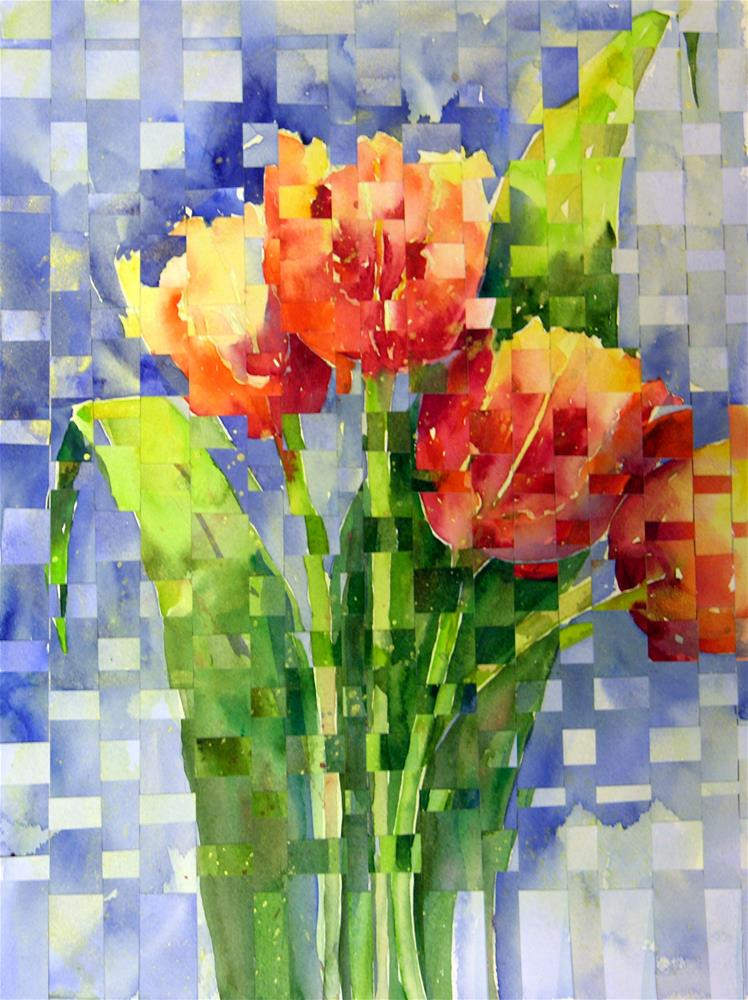 """Woven Tulips"" original fine art by Suzy 'Pal' Powell"